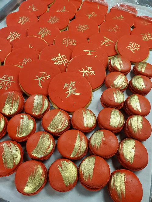 Chinese New Year Cookies and Macarons