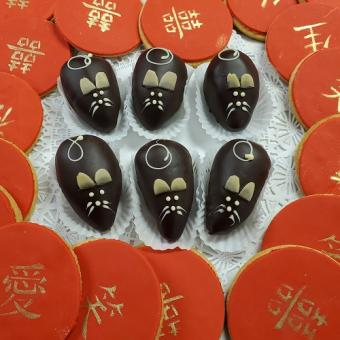 Chocolate Mice and Chinese New Year Cookies